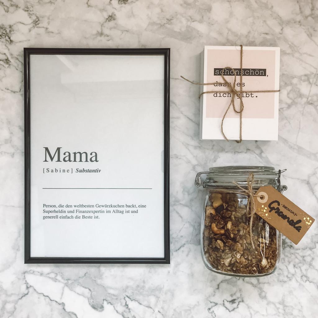 Definitionsposter Mama kostenlos