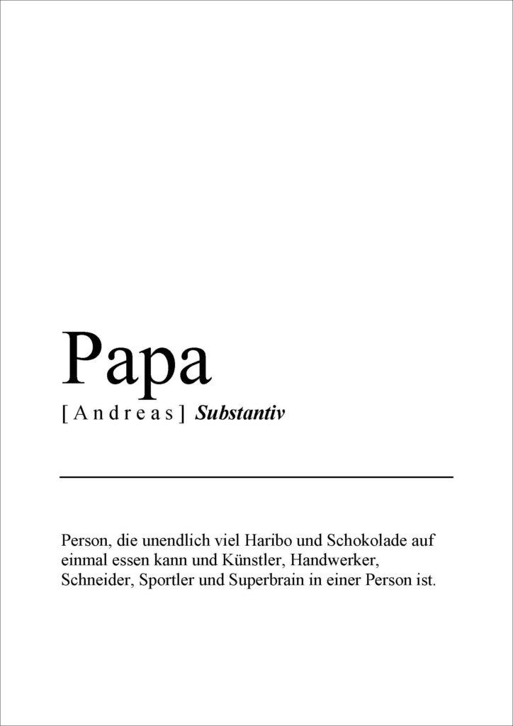 definitionsposter papa vorlage