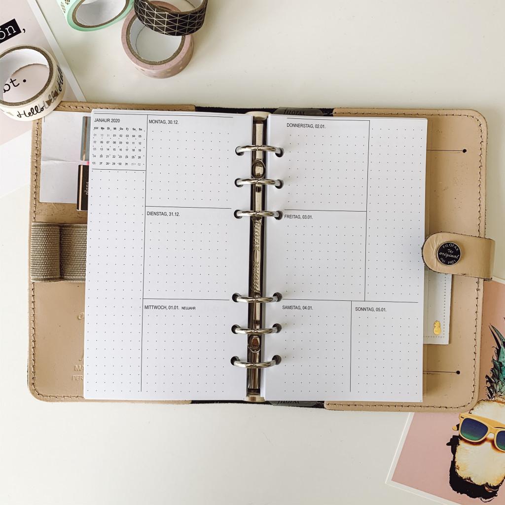 Filofax Kalendereinlagen 2020