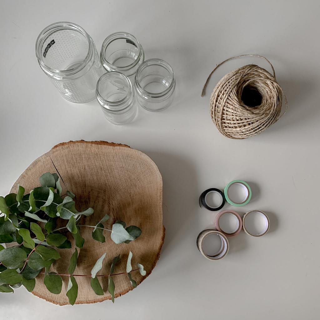 Upcycling Adventskranz aus Altglas