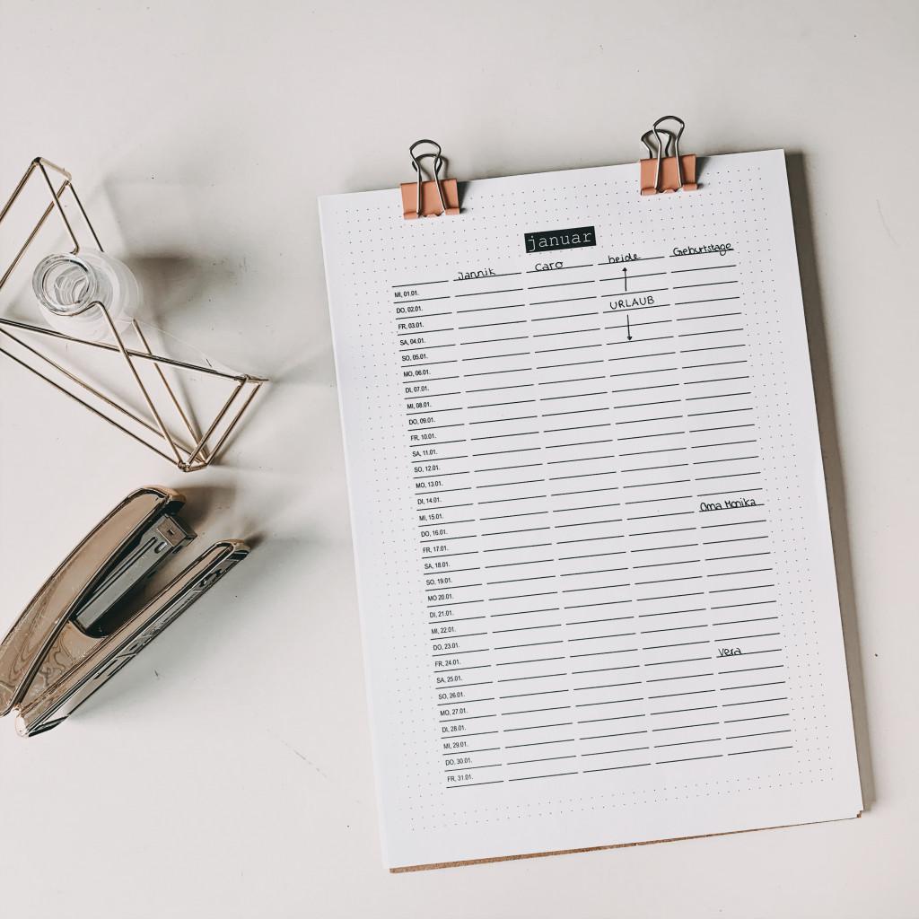 DIY Familienplaner Familienkalender
