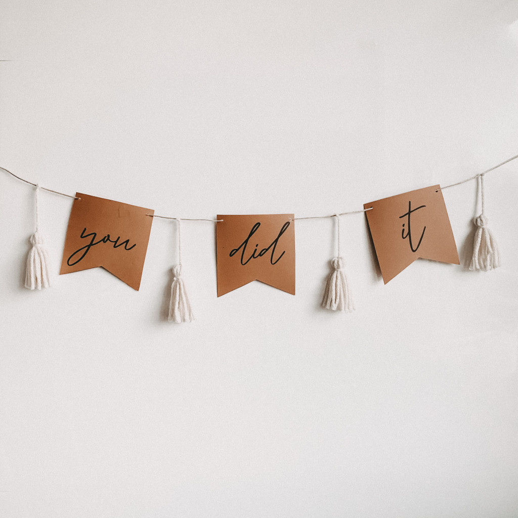 DIY Graduation Garland