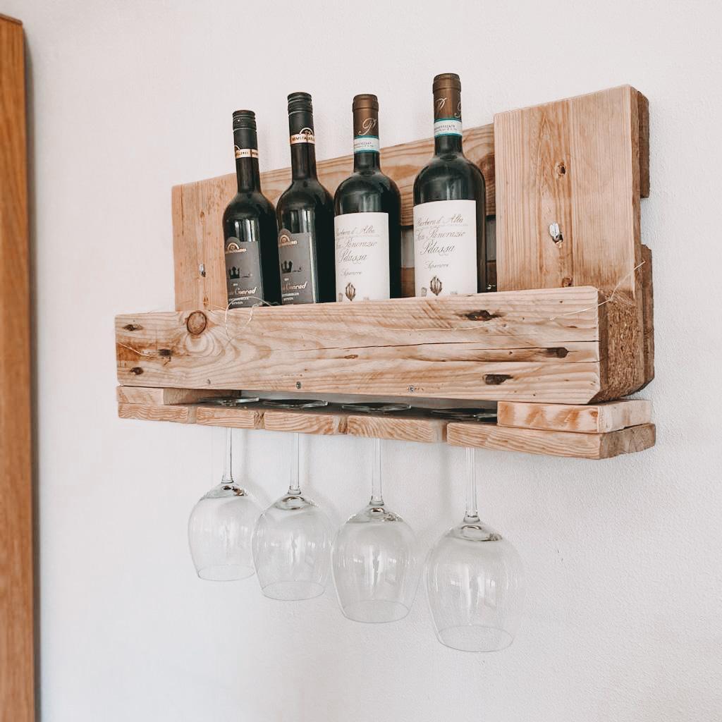 DIY Weinregal aus Paletten
