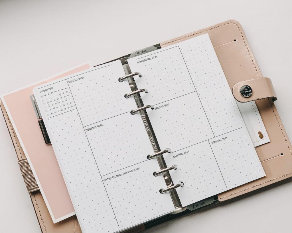Filofax Kalender 2021 Bullet journal