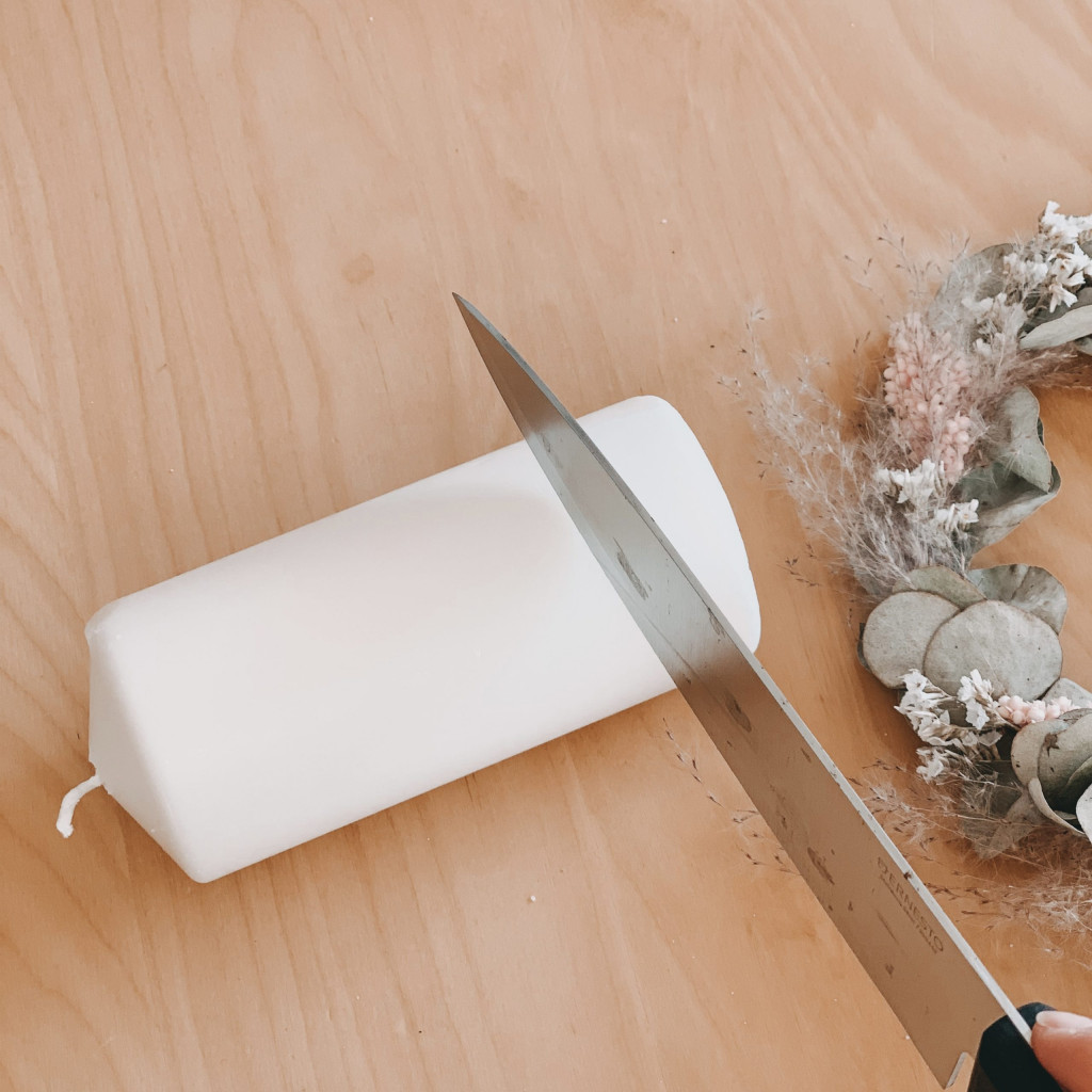 DIY Adventskranz Trockenblumen