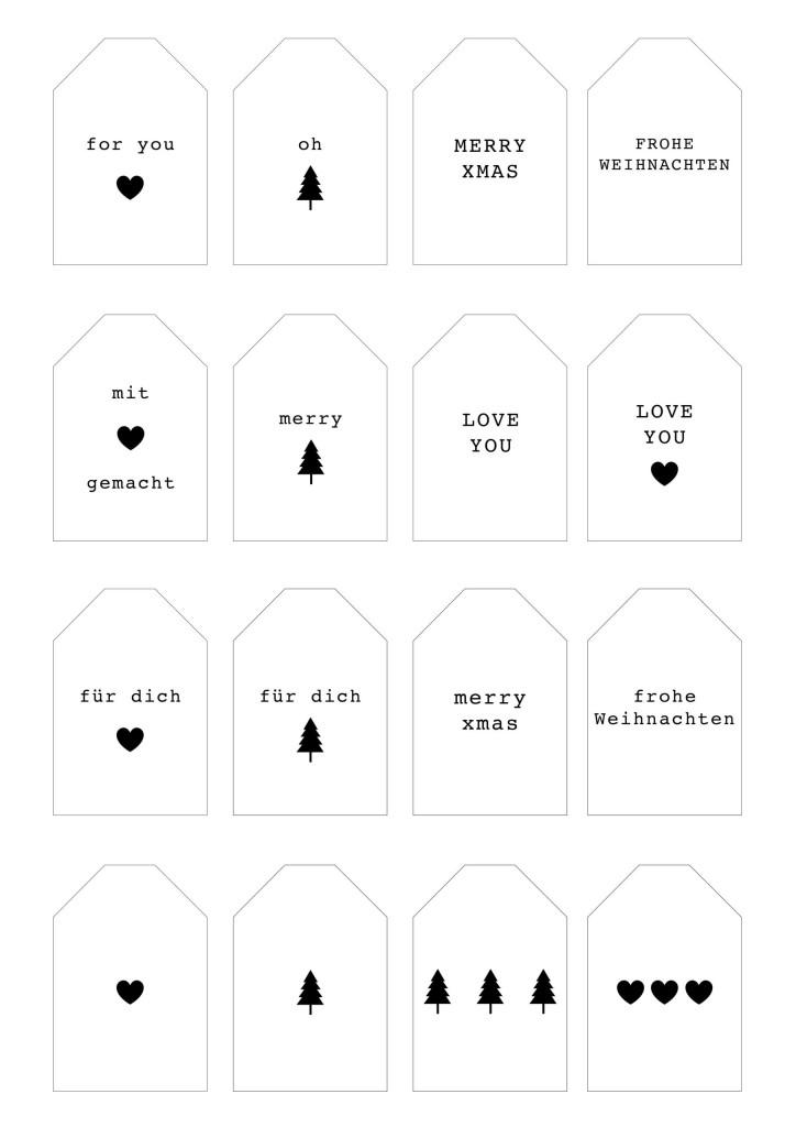 Free Printable: Geschenkeanhänger kostenlos downloaden