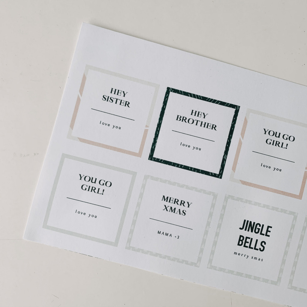 Etiketten für DIY Raumduft