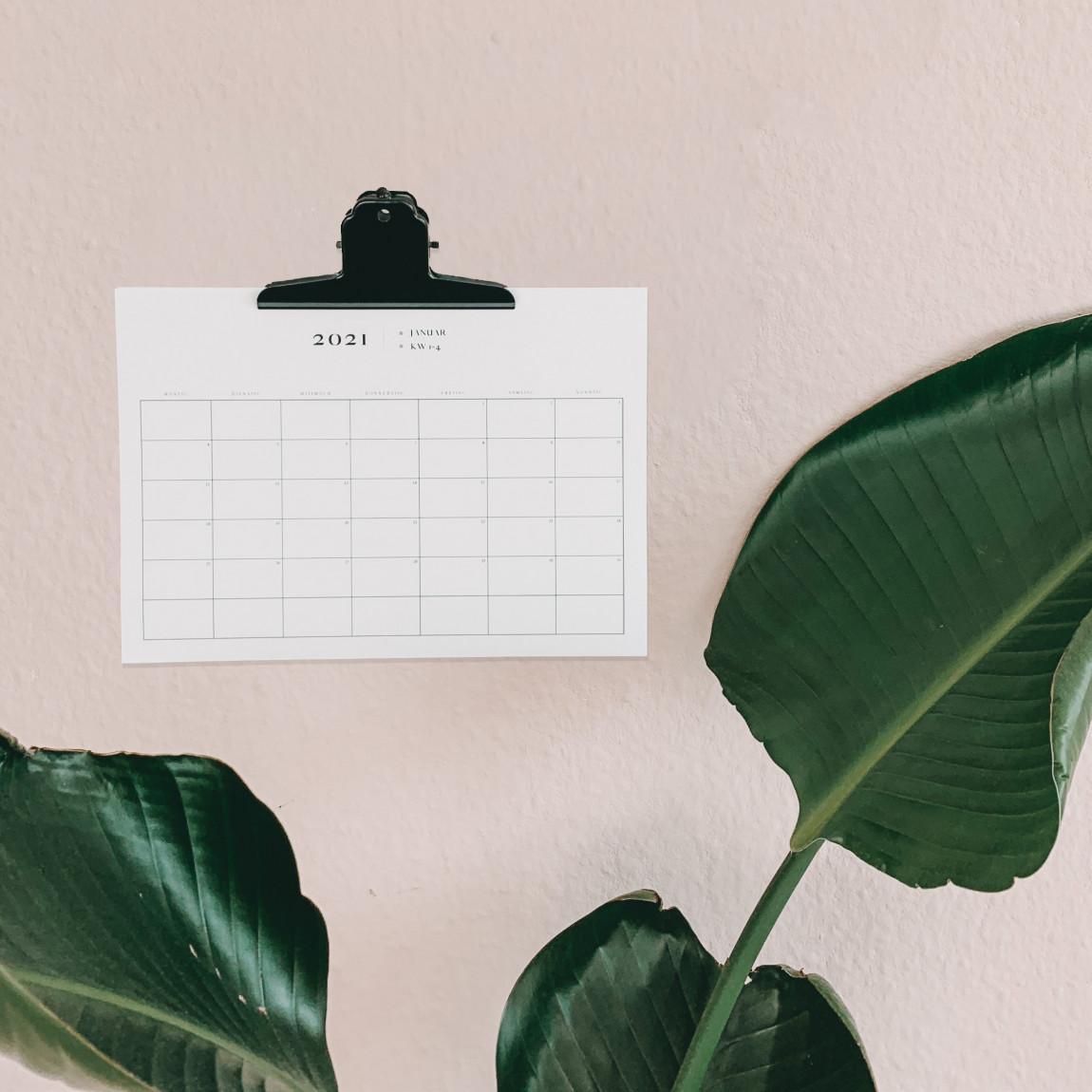 Monatskalender minimalistisch Download
