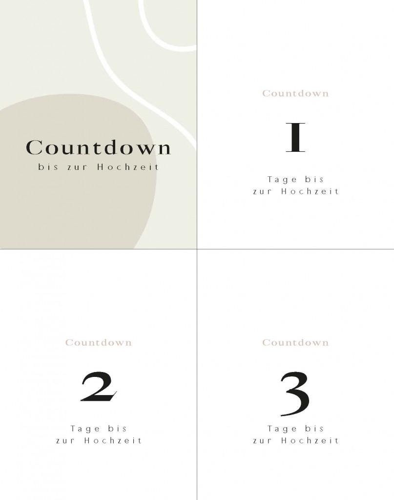 Brautkalender Hochzeits countdown Abreißkalender