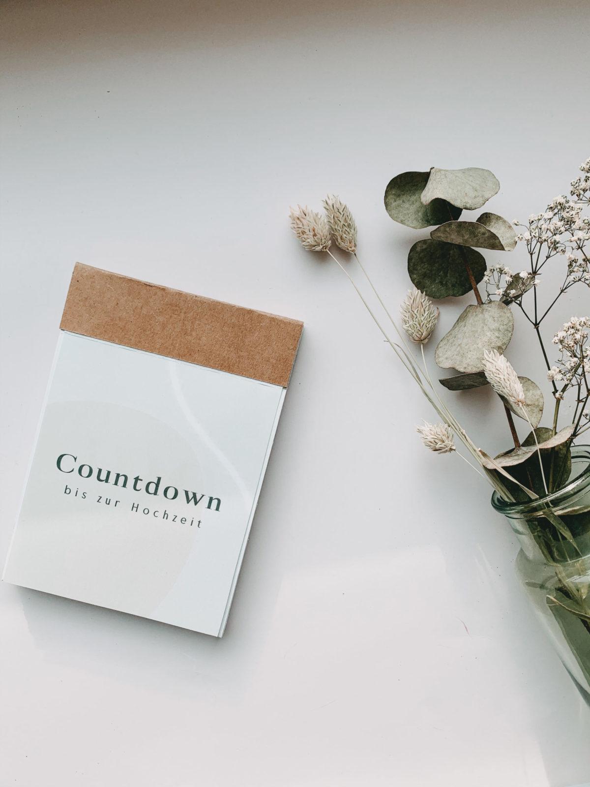Abreißkalender: 100 Tage bis zur Hochzeit