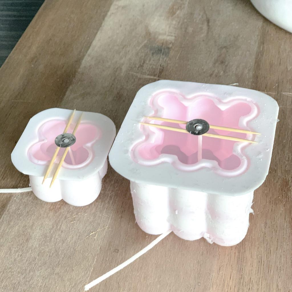 DIY Bubble Kerzen in verschiedenen Farben