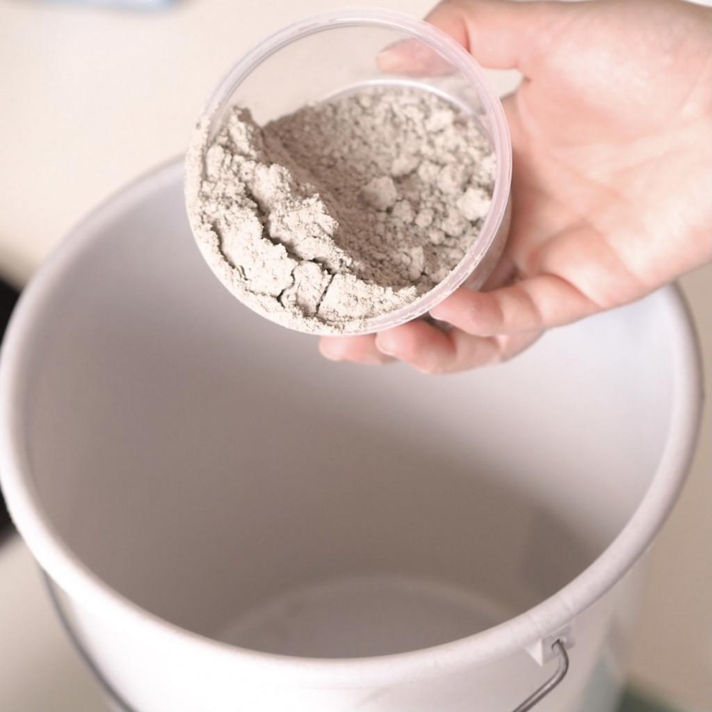 Joghurtbecher DIY Beton Pflanzentopf