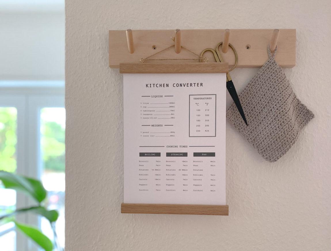 Kitchen Converter Guide Poster kostenlos Titelbild Pflanze