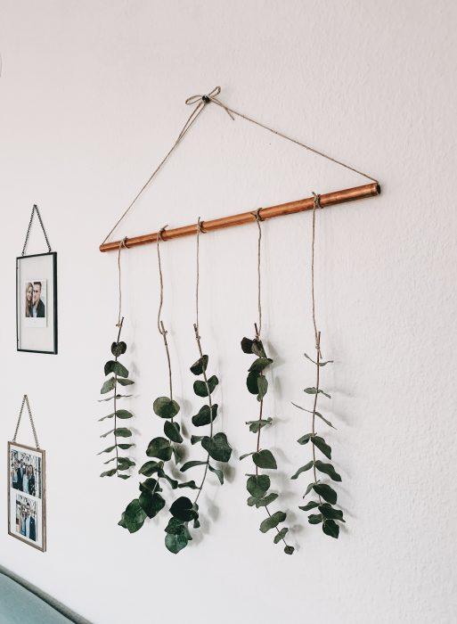DIY Hanging Flowers - Girlande aus Eukalyptus